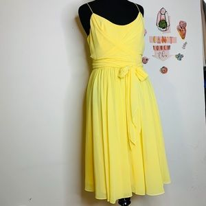 AMERICAN LIVING YELLOW LOW CUT DRESSES
